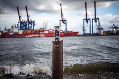 A river that looks like the sea (InThisLight Photography) Tags: water waves ship hamburg cranes container hafen elbe elbstrand altona ottensen