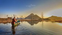 boatman (Albert Photo) Tags: reflection boat boatman  yuanyang   china