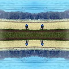 2016-04-27 cycliste symtrique (april-mo) Tags: art experimental symmetry symmetric experimentalphoto experimentaltechnique