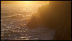 The Sea (Jacob Sellmaier) Tags: ireland light sunset sea sun beach nature water evening meer waves naturallight irland cliffs rays sunrays sonne goldenhour oly klippen m43 mft