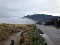 The Clouds Roll In (malchats) Tags: street beach clouds oregon puddle manzanita oceanroad laneda neahkahniemountain