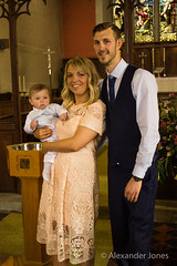 Mum, Dad and Baby Louie (alexjones05) Tags: baby church eos indoors cannon christening godfather 1100d