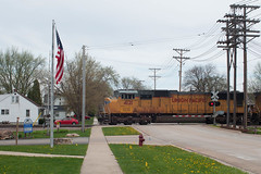 UP4121RochelleIL4-20-16 (railohio) Tags: up illinois trains unionpacific rochelle d90 sd70m 042016