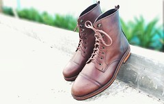 In frame: Dark Brown Captoe Boots | 5 holes - 3 hooklaces | leather outsole with anti slip rubber  #leathershoes #leatherboots #boots #mensshoes #mensstyle #menswear #mensfashion #footwearoftheday #bespoke #MTO #Bali #canggu (perdeumftwr) Tags: bali boots mensfashion bespoke menswear mensshoes canggu mto leatherboots leathershoes mensstyle footwearoftheday