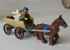 Mail Wagon Doodle (TheRoyalBrick) Tags: wagon lego cart moc foitsop