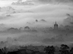 Fog on the town B&W (philwirks) Tags: new snow art public fog interesting random derbyshire dec picnik myfavs 2010 tlc ribbet prismatic luminosity philrichards wirksworth supershot creativephoto cooliris flickrduel diamondclassphotographer yourbestphotography show08 unlimitedphotos absolutelystunningscapes atraversdetumirada masterpiecesoflightanddark cf2008sept flickrdiapage1813page3ond wirksworthsnow