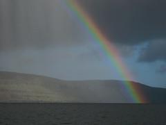Rainbow (Jan Egil Kristiansen) Tags: rainbow kayaking faroeislands trshavn