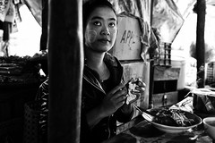 A Bowl Of Noodles (alisdair jones) Tags: food woman market burma meal noodles myanmar bagan ef35mmf14lusm