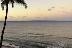 Island of Lanai (rschnaible) Tags: ocean sunset sea color beach water landscape hawaii colorful pacific maui lanai kihei
