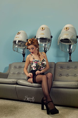 Pinups with Ellie at Retrosexual: At the hairdresser's, oops! (SpirosK photography) Tags: portrait vintage ellie hairdresser pinup hairdressers alvina retrosexual jerryscott pinupphotography spiroskphotography elisavetlatsiou ellieroussou constandinariza alvinahairstylist