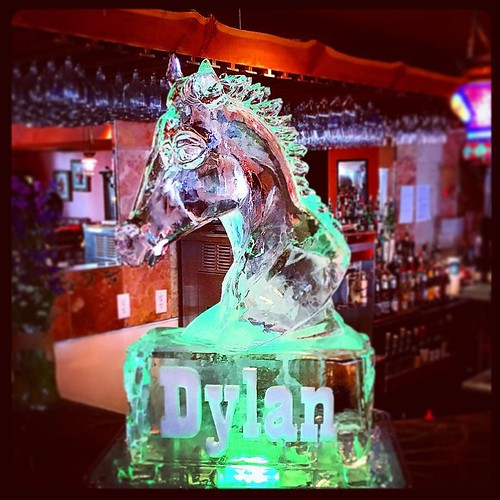 Congrats to the #birthday boy Dylan on his #barmitzvah! This #icesculpture is a tribute to his late horse Blaze. #fullspectrumice #austin #mazeltov #thinkoutsidetheblocks #brrriliant - Full Spectrum Ice Sculpture