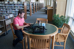 Using WiFi at the Library (Lester Public Library) Tags: book library libraries books wifi publiclibrary lpl publiclibraries libslibs librariesandlibrarians 365libs lesterpubliclibrary readdiscoverconnectenrich wisconsinlibraries lesterpubliclibrarytworiverswisconsin