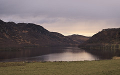 Loch Ruthven (spodzone) Tags: light art nature water rural landscape scotland highlands moody emotion unitedkingdom memories places calm hills bland vista isolation loch melancholy pastoral simple relaxed contrasts bemused gbr landwater skyearth dulllight lochruthven mankindnature cruachaidh