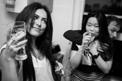 Kentish Town NYE (Gary Kinsman) Tags: party bw london houseparty pose blackwhite flash posed newyearseve kentishtown 2016 nw5 fujix100 fujifilmfinepixx100 newyearseve2015