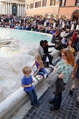 Sue & The Kids At The Trevi Fountain (Joe Shlabotnik) Tags: italy rome roma fountain italia violet trevifountain sue everett 2016 afsdxvrzoomnikkor18105mmf3556ged march2016