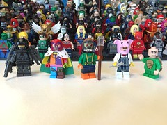 DC Characters: Scrapping the barrel for villains (-{Peppersalt}-) Tags: comics dc crazy quilt lego turtle books batman professor gotham firefly villains ratcatcher minifigures pyg peppersalt212
