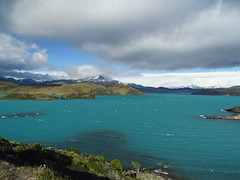 Torres del Paine Chile (estellousan) Tags: chile lake water clouds nationalpark wind turquoise ripples torresdelpaine