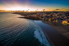 Luz sunset (atroy9) Tags: sunset seascape luz portugal landscape waves aerial algarve aerials drone dji