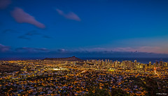 Wide view of Waikiki and Diamond Head at Twilight (dinero57) Tags: nightphotography canon eos hawaii twilight nightscape waikiki outdoor cityscapes citylights diamondhead honolulu dslr tantalus canonphotography 5dmarkiii ef1635f4l dinero57