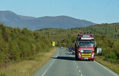 99 Transport in Strath Bran P1160866mods (Andrew Wright2009) Tags: uk vacation holiday truck scotland highlands britain transport scenic scottish lorry bran strath
