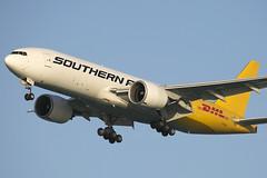 N774SA B777-200LRF Southern Air / DHL (JaffaPix .... +2.5 million views, thanks!) Tags: airplane flying aircraft aviation flight aeroplane cargo boeing soo 777 freighter dhl 9s 777200 b777200 southernair obbi b77l b777200lrf n774sa jaffapix davejefferys jaffapixcom