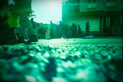 Carnvial low down. (Markus Moning) Tags: carnival light eye film backlight analog 35mm schweiz switzerland back lomo lca xpro lomography rat view cross low ct ground down x level valley rats processing pro 100 process agfa expired rheintal rhine processed zero umzug ch karneval gegenlicht fasnacht fasnachtsumzug moning sanktgallen rebstein precisa markusmoning