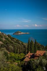 View to L'Isolotto (Tom Radziwill - Fotografie) Tags: ocean moon landscape coast meer mediterranean bluesky tuscany landschaft toskana mittelmeer zypressen lisolotto sonya58