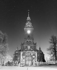 Koci parafialny pw. NSPJ w Suoszowej (d2luk) Tags: bw church night stars polska noc koci maopolska gwiazdy nspj suoszowa