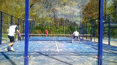 Padel LTVL Lelystad (01-05-2016). (Dynaries) Tags: weather sport mobile touch nederland tennis squash racket flevoland beachball lelystad mobiel bal tennisbaan allweather 2016 padel tennisbal squashbaan ltvl umitouch padelbouw