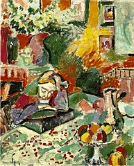 La Lecture, 1906 // by Henri Matisse (mike catalonian) Tags: france painting interior 1906 matisse 1900s fauvism