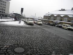 taxis rail station bahnhof Bielefeld Germany 26th January 2014 snow  26-01-2014 14-50-27 (dennoir) Tags: snow station germany january rail bahnhof taxis bielefeld 26th 2014 145027 26012014