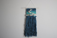 Blue Green Weaving (thenotionsbox) Tags: wall handmade hanging woven weaving weave wallhanging handwoven