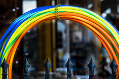 4/365 A Rainbow of hoops - 365 Project 2 - 2016 (Helen) (dorsetbays) Tags: blue red england orange colour green yellow shop hoop toy rainbow dorset 365 hoops weymouth toyshop 2016 365project aphotoadayforayear second365project