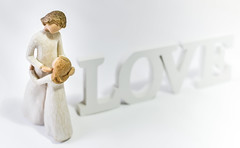 """Mothers Love..."" (Ian Johnston LRPS) Tags: love word 50mm wooden nikon letters daughter noflash mothers card onwhite tabletop d800"