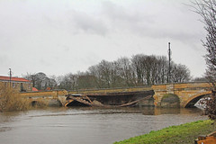 Tadcaster Bridge Collapse (96tommy) Tags: york uk bridge england water river photography town photo flood britain yorkshire united great north kingdom gas collapse gb leak foss ouse floods collapsed tadcaster wharfe