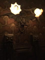 Tokyo Disneyland (jericl cat) Tags: park lighting wallpaper japan night japanese tokyo dragon disneyland disney haunted theme mansion sconce nightmarebeforechristmas fantasyland 2015