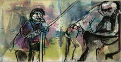 Diagonalen (Alemwa) Tags: berlin kreuzberg sketching menschen zeichnung alltag beobachtung bung zeichnen alemwa