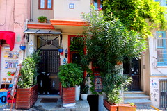 lovely Street in Beyolu (simon_berlin62) Tags: life street door house colour turkey europa europe trkiye entrance haus istanbul trkei colourful rue 2014 beyolu  farbenfroh   strase giri    september2014