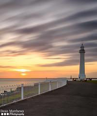 Golden Sunrise (DeanMatthewsPhotography) Tags: longexposure sky lighthouse clouds sunrise canon coast coastline northeast sunderland seaburn tyneandwear deanmatthews leefilters canon6d
