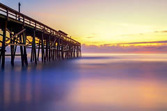 Fernandina Beach Pier (saeah_lee) Tags: ocean light usa sun seascape beach nature sunrise landscape outside pier us dock unitedstates florida outdoor amelia fernandinabeach ameliaisland canon24105mm