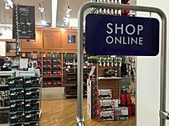 Even the Brick and Mortars are Telling You to Shop Online (Lynn Friedman) Tags: sanfrancisco brick shopping store humor 94103 bedbathandbeyond brickandmortar
