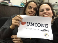 Bojana Manojlovic (left) and Dorotea Zec, Sindikat Pomoraca Hrvatske (Seafarers Union of Croatia). (nautilus.international) Tags: photo union croatia competition international federation nautilus 2016 seafarers heartunions