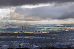 The Loch Forth Monster! (Colin Myers Photography) Tags: bridge colin clouds landscape photography moody forth messy myers forthbridge colinmyersphotography