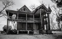 skeletal remains (Rodney Harvey) Tags: house abandoned architecture georgia skeleton scary eerie spooky plantation infrared statesboro frail