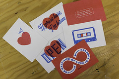 Valentines (scottboms) Tags: print hearts cards postcards valentines projects facebook arl risograph analogresearchlab