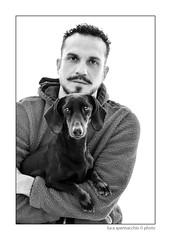 LUC_5505 copia (Spenny71) Tags: family portrait bw dog dogs cane friend famiglia bn friendly ritratti amicizia cani progetto spennacchio spenny71