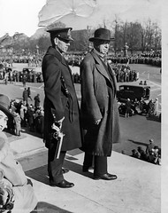 Coxey, leader of 1894 march, watches Hunger Marchers: 1931 (washington_area_spark) Tags: 1931 army march living dc washington general jacob great protest s demonstration hunger depression bonds speech unemployed banks arrest jobless wage 1894 loans coxey