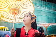 Can't find you (voxpepoli) Tags: taunggyi shan myanmarburma mm woman street streetlife search searching stare looking umbrella umbrellas parade