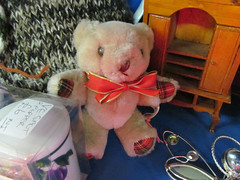 Danger Ted's relatives? (pefkosmad) Tags: bear teddy small gloucestershire tiny dt tewkesbury antiquescentre dangerted