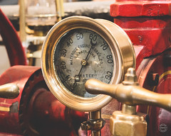 We Need More Pressure! (brianloganphoto) Tags: new york city nyc red history glass museum architecture america truck fire iron manhattan united north indoor equipment historical states brass nyfd conditions guage regions